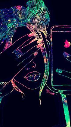 Wallpaper Glitter Neon New Ideas Cute Galaxy Wallpaper, Emoji Wallpaper, Cute Wallpaper Backgrounds, Tumblr Wallpaper, Wallpaper Iphone Cute, Colorful Wallpaper, Girl Wallpaper, Sparkle Wallpaper, Wallpaper Wallpapers