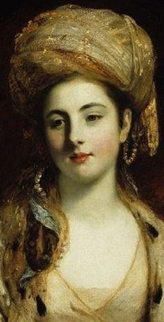 Joshua Reynolds, Mrs Richard Paul Jodrell (detail), 1775.