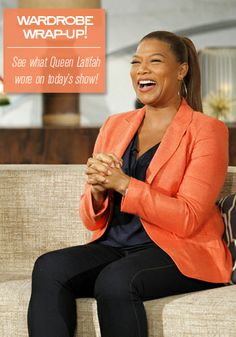 A pop of color is not a no no during fall, play with it a little bit. Like this! // Queen Latifah's Wardrobe Wrap-up 11.21.13