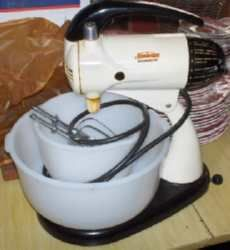Mom had a Sunbeam mixer like this, before the KitchenAid.
