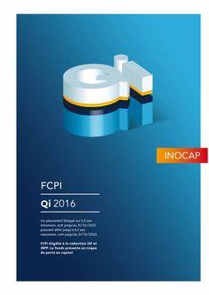 FCPI QI 2016 commercialisé par Inocap