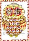 I love colorful owl drawings.