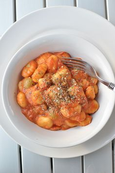 Skillet Gnocchi in Rich Tomato and Goat Cheese Sauce