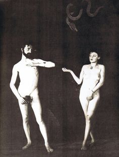 Man Ray: Marcel Duchamp and Brogna Perlmutter-Clair as Adam and Eve