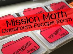 Ever been to an escape room with your friends? Escape The Classroom, Math Classroom, Maths, Future Classroom, Classroom Ideas, Student Teaching, Math Teacher, Escape Room Themes, Transformations Math