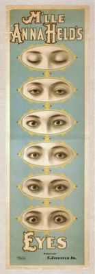 M'lle Anna Held's Eyes, a vaudeville poster from 1898 | Library of Congress