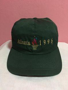 9e019d0eb58 Vintage 1996 Olympics Atlanta Olympic Games Collection By Hanes Snapback Hat  Cap Atlanta