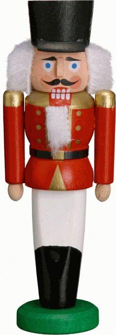 Cascanueces de la Navidad alemán Hussar rojas - 9cm / 3,5 pulgadas - Auténticos Cascanueces Erzgebirge alemanes - Seiffener Volkskunst