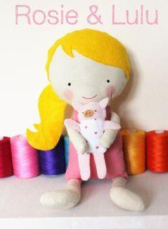 (9) Name: 'Sewing : Cloth Doll Sewing Pattern - Rosie & Lulu
