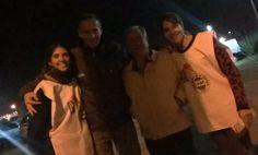 El domingo estuvieron presentes en el estacionamiento de la Fiesta de la Guitarra.