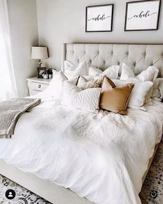 38 Look Luxurious With a White Master Bedroom Design Ideas - A master bedroom should be the perfect retreat from whatever is going on in the rest of the home and place where you can really kick -back and relax. Romantic Master Bedroom, Master Bedroom Makeover, Modern Bedroom, Contemporary Bedroom, Master Suite, Bedroom Classic, Romantic Bedrooms, Bedroom Neutral, Bedroom Brown