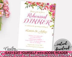 Rehearsal Dinner Invitation Bridal Shower Rehearsal Dinner Invitation Spring Flowers Bridal Shower Rehearsal Dinner Invitation Bridal UY5IG #bridalshower #bride-to-be #bridetobe