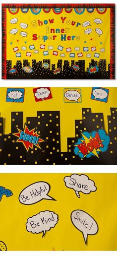 Superhero Bulletin Board for the classroom! Feature student accomplishments and their inner super hero qualities.