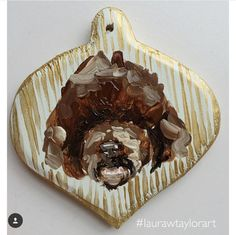 Hand-painted ornament depicting your pet or maybe your friends. Great for gifting! Please attach a picture of your dog or cat and give any Poodle, Pup, Ornament, Hand Painted, Portrait, Handmade Gifts, Desserts, Christmas, Friends
