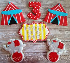 Circus+Cookies+by+SweetCBakeShop+on+Etsy,+$44.00