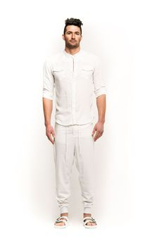 Crushed linen pants