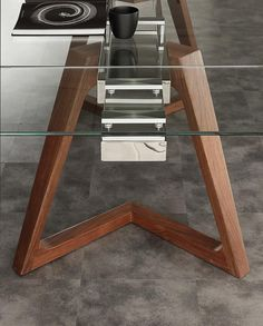 Glass Dining Table Set, Dining Table Design, Modern Dining Table, Furniture Legs, Furniture Design, Office Table Design, Wood Table Bases, Japanese Furniture, Diy Home Decor Easy
