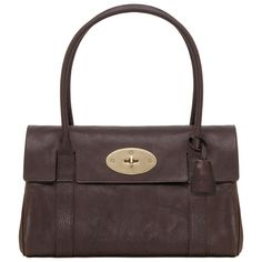 Mulberry East West Bayswater Chocolate Natural Leather