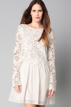 Robe blanche dentelle, See by Chloe