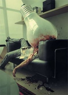 Overthinking kills...graphic picture but sure gets the point across!