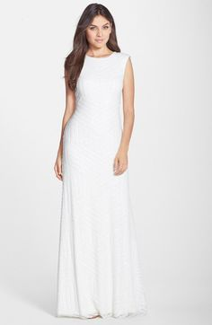 Vera Wang Sequin A-Line Gown available at #Nordstrom