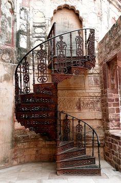 Spiral staircases kind of freak me out - but I love them