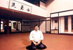 Rev. Kensho Furuya in his dojo on 2nd Street in Little Tokyo in the mid 1980s.