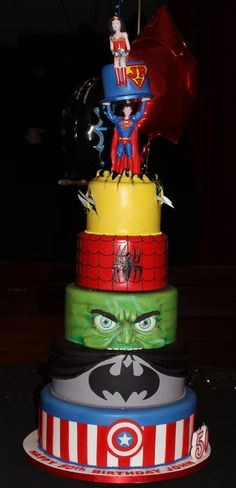6Ft high super hero's cake