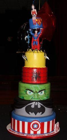 6Ft high super hero's cake