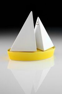 Sail away with Takae Mizutani's Memory of Falmouth salt and pepper shakers