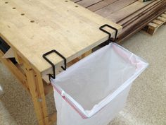 Put A 13 Gallon Trash Bag In The Hoop. Draw Close As You Would On Your  Household Trash Can. | PORTABLE TRASH BAG HOLDER | Pinterest | Trash Bag