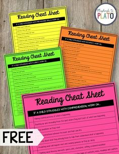 This is genius! Reading Cheat Sheets. Such a huge teacher time saver for planning reading lessons. Brilliant teacher hack.