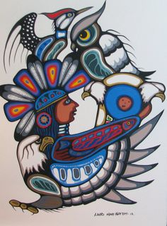 by Lloyd Kakepetum Native American Paintings, Native American Artists, Tribal Drawings, Tribal Art, Claudia Tremblay, Modern Indian Art, Canadian Art, Native Canadian, Woodland Art
