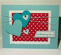 """Stamp and Stretch: """"Follow My Heart"""" Project 1 of 6 using SweetHeart Treat Bags www.stampandstretch.com"""