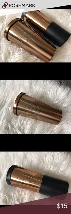 Metallic copper Starbucks Grande hot & ice cups Buy together as a bundle or separately. NWT. Listed as PINK only for exposure. PINK Victoria's Secret Accessories