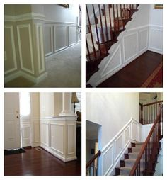 chair rail ideas :: breaking up the lower portion of the walls with more interest
