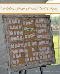 http://theborrowedabode.com/wp-content/uploads/2012/08/Window-Frame-Escort-Card-Display1.jpg