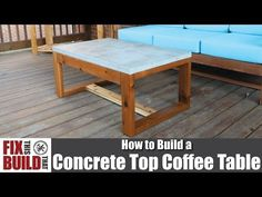 DIY Concrete Top Outdoor Coffee Table | How to Build - YouTube