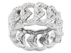 "Remy Rotenier For Bella Luce (R) 2.34ctw Rhodium Plated Sterling Silver ""forever"" Ring"