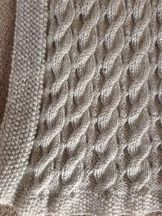 Ravelry: Scarlett's Reversible Cable Baby Blanket by Suzanne Bryan