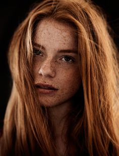 Redhead | Long red locks. Volume and texture. | Luca Hollestelle by Carsten Witte | via for-redheads.tumblr.com