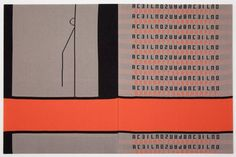 ROSEMARIE TROCKEL Untitled, 1989 Knitted acrylic yarn mounted on canvas 76 3/4 x 118 1/8 inches (195 x 300 cm)