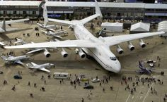 The largest transport plane in the world remains the Antonov 225, shown here on June 17, 2001 at the Paris Air Show.