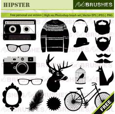 Hipster Vector Graphics Free Free Vector 123freevector is always good for inspiration.