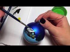 Мастер-класс. Роспись новогоднего шара.. Уроки вязания на видео