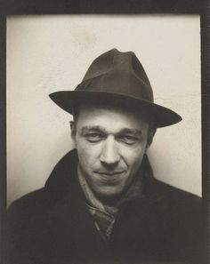 1929 Photographer Walker Evans, from a photo booth session.