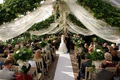 gorgeous fabric draping