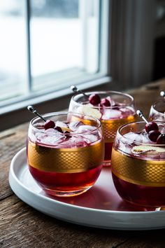 Cranberry ginger cocktail.