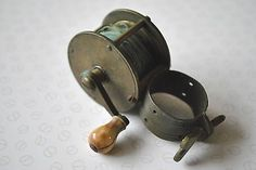 A nice early vintage 19th #century #brass collar #winch fishing reel, View more on the LINK: http://www.zeppy.io/product/gb/2/252416045793/