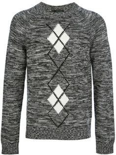 Dsquared2 Argyle Knitted Jumper - shop.genteroma.com